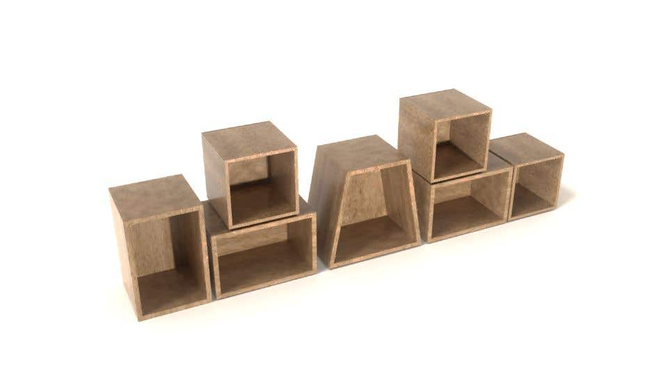 Proposition n°52 du concours Render an animated file for configuring and re-configuring a wall bookcase system.
