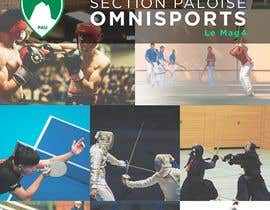 #42 untuk Couverture magazine Section Paloise Omnisports oleh carlosced