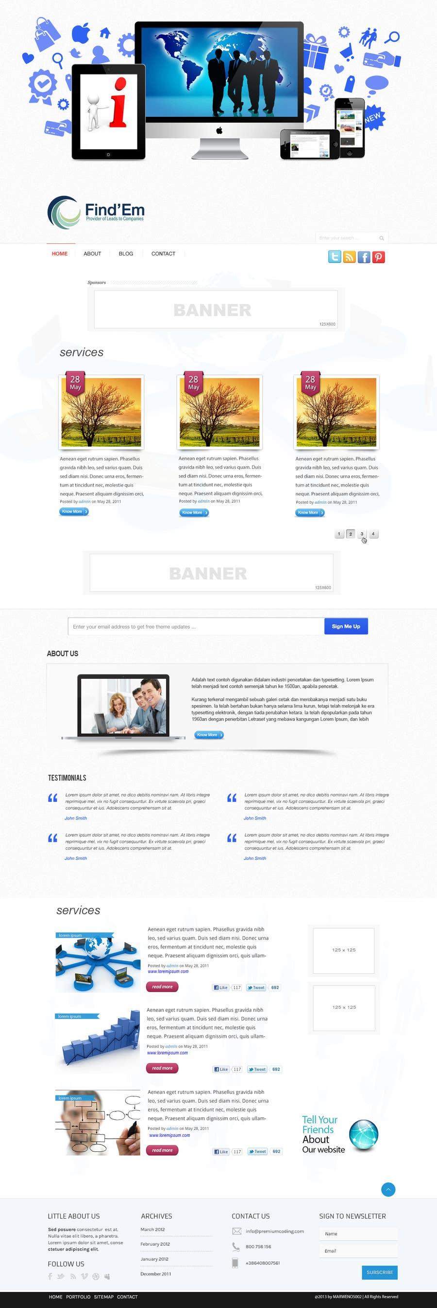 Penyertaan Peraduan #2 untuk Website Design for Find´Em
