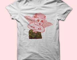 #3 for Tshirt with Logo of Angel eating Avocado Toast af designcontest8