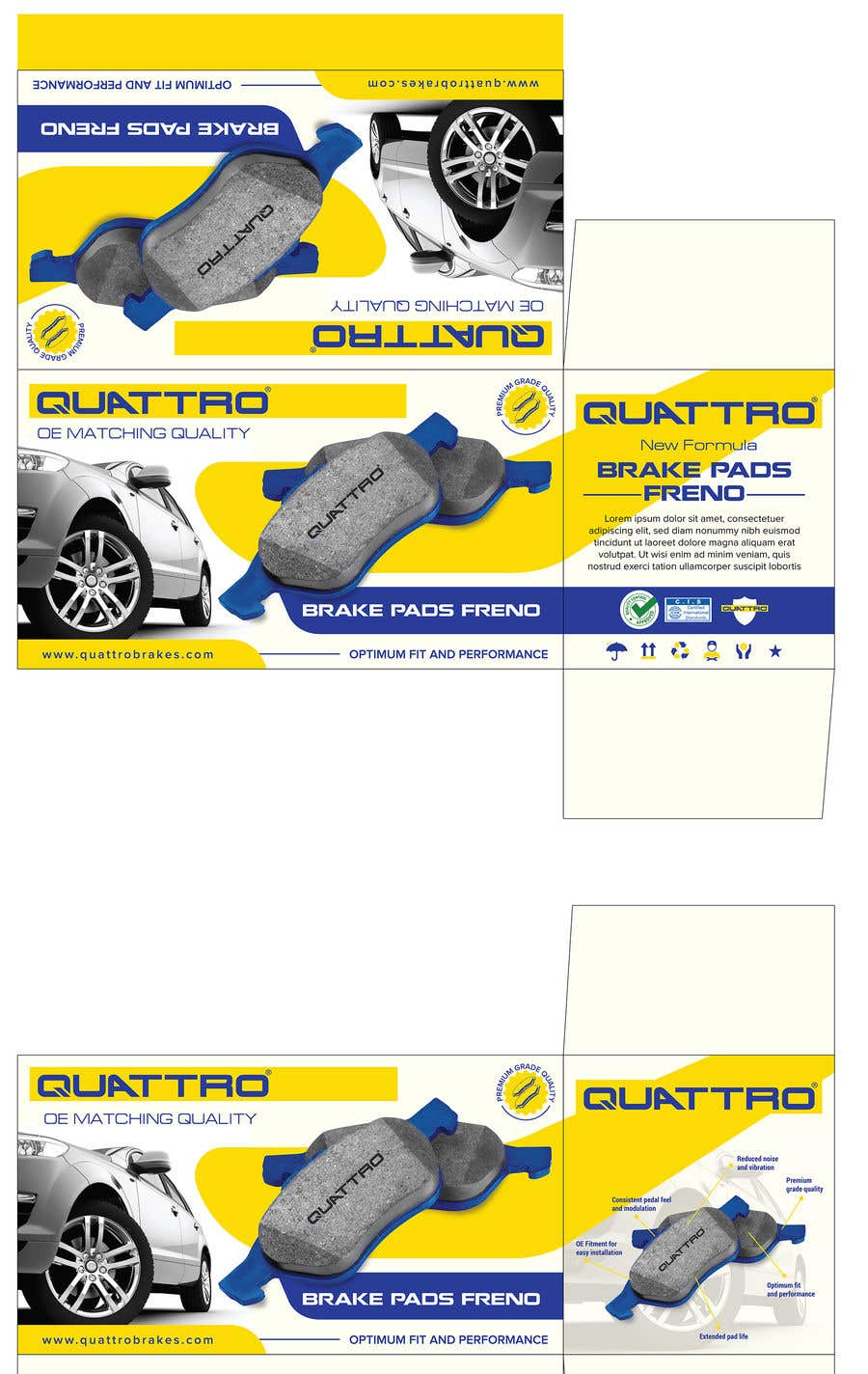 "Intrarea #14 pentru concursul ""Prepare packaging for Brake Pads and Brake Discs"""