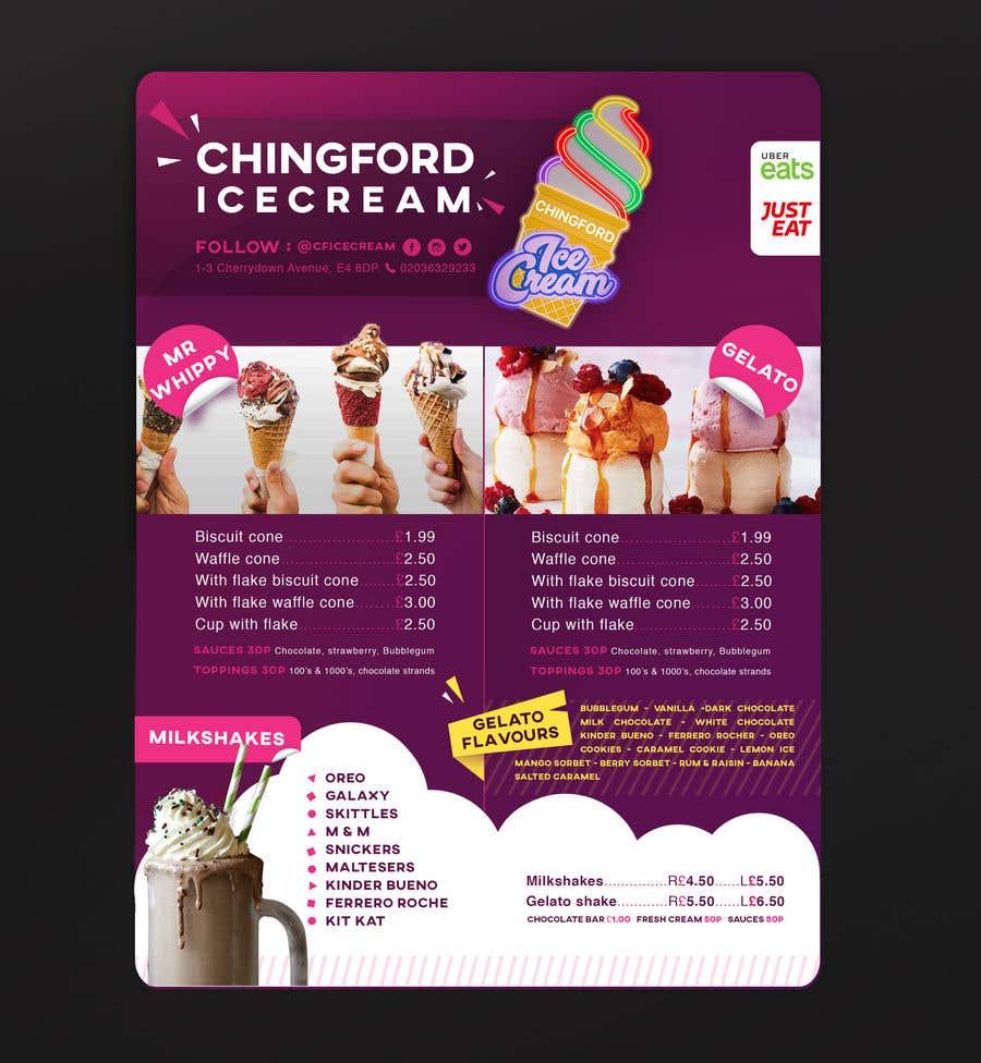 Inscrição nº 5 do Concurso para A5 Menu design for Ice cream, Juice bar