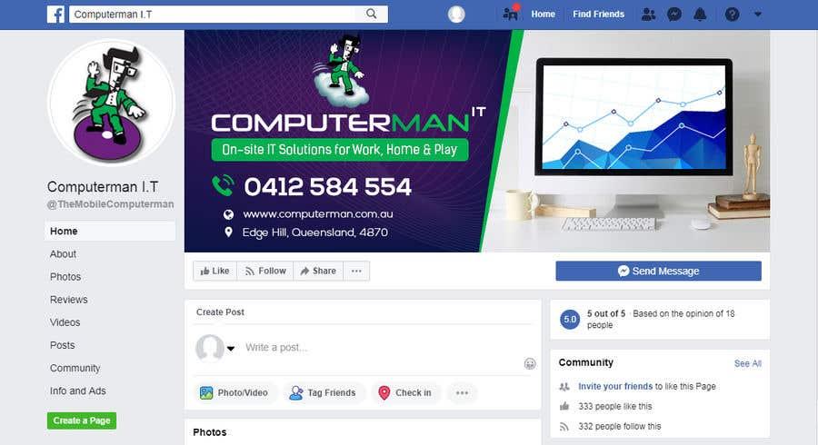 Penyertaan Peraduan #142 untuk Re-design Facebook business page with Banners & art