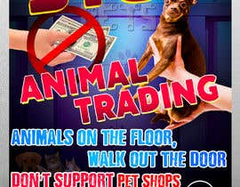 #27 for Stop Animal Trading Leaflet af Alexander7117