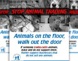 #9 for Stop Animal Trading Leaflet af Hannahyan