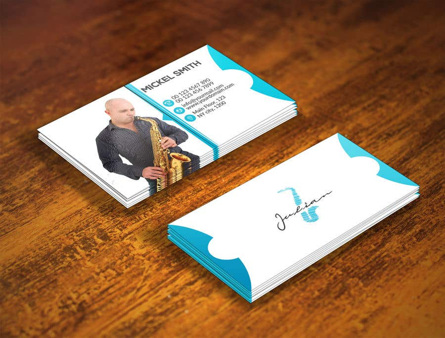 Contest Entry #371 for Design business cards for musician - Saxophone - Logo available