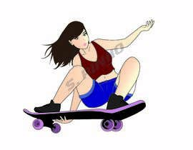 nº 9 pour re-draw of an ACTION SKATE BOARD CHARACTER par soffis