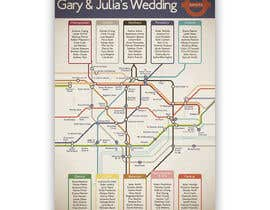 #10 untuk Design a vintage style London underground wedding seating plan poster oleh jamesmahoney98