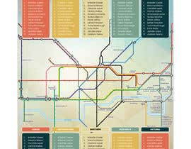 #16 untuk Design a vintage style London underground wedding seating plan poster oleh dnamalraj