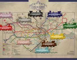 #20 untuk Design a vintage style London underground wedding seating plan poster oleh Shtofff