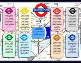 #8 untuk Design a vintage style London underground wedding seating plan poster oleh Rawnaksabrina