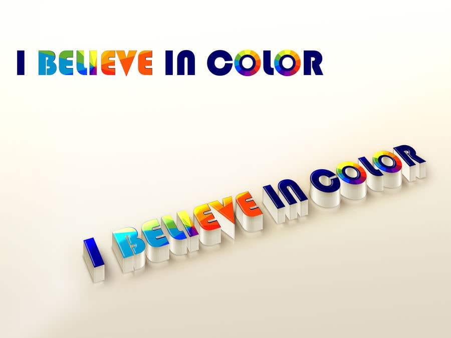 Kilpailutyö #3 kilpailussa Create company logo for video / photography studio. I Believe in Color
