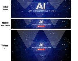 Nro 28 kilpailuun Design Social Banner for Artificial Intelligence Youtube and Twitter käyttäjältä jeevanmalra