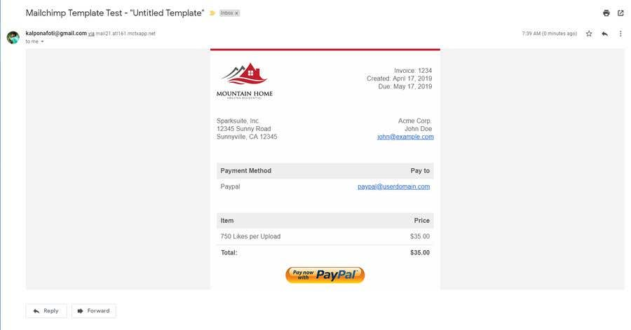 Contest Entry #15 for I need a responsive email invoice template