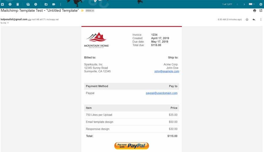 Contest Entry #17 for I need a responsive email invoice template