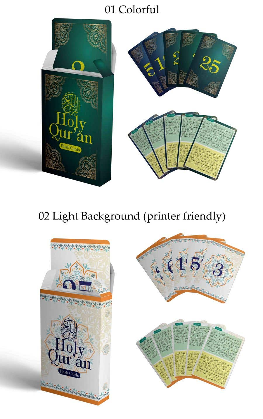 Graphic Design - Game Cover and Flashcard Design