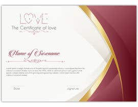 #8 for design a love certificate template with my logo af SLP2008