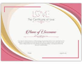 #9 for design a love certificate template with my logo af SLP2008