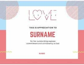 #5 for design a love certificate template with my logo af nurfatinshafiqah