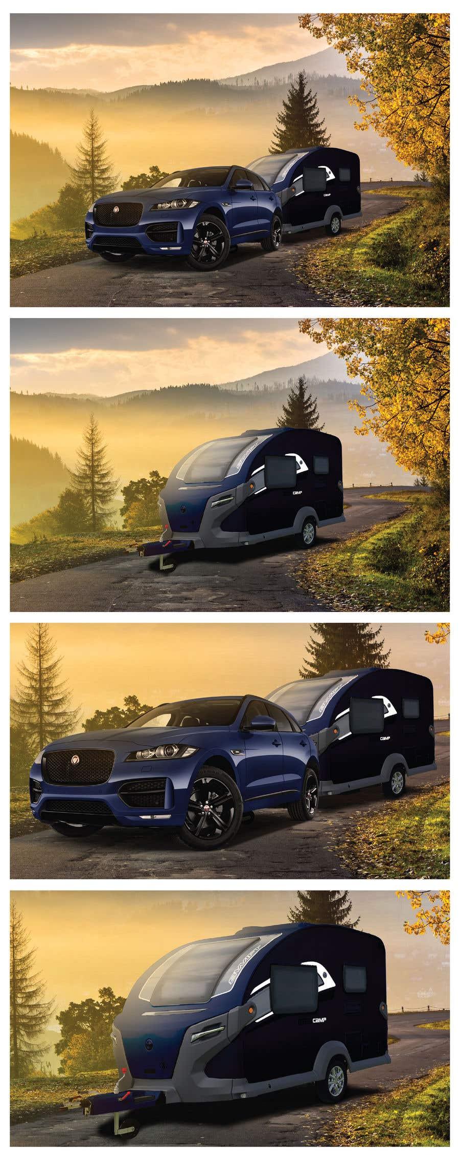 Penyertaan Peraduan #238 untuk Photoshop carvan on background image and change colour