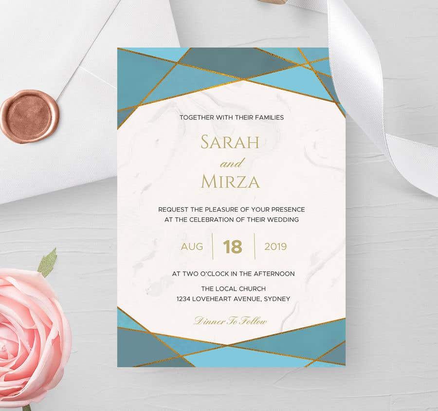 Kilpailutyö #125 kilpailussa design of wedding invitations