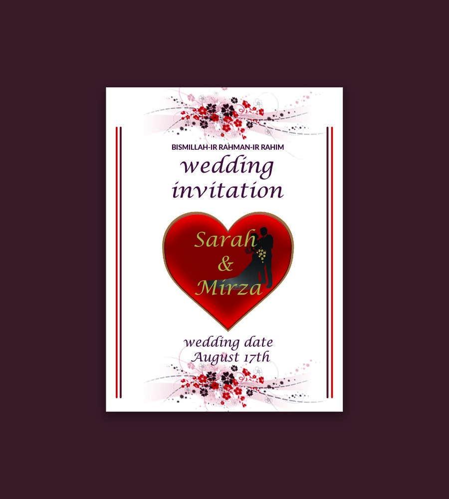 Kilpailutyö #121 kilpailussa design of wedding invitations