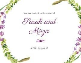 #127 para design of wedding invitations por NurAfrinaSyaurah