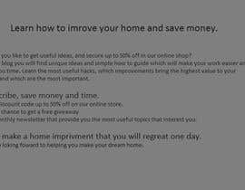 marko1030 tarafından Landing page text (Collecting emails for newsletter) for blog about home improvement için no 8