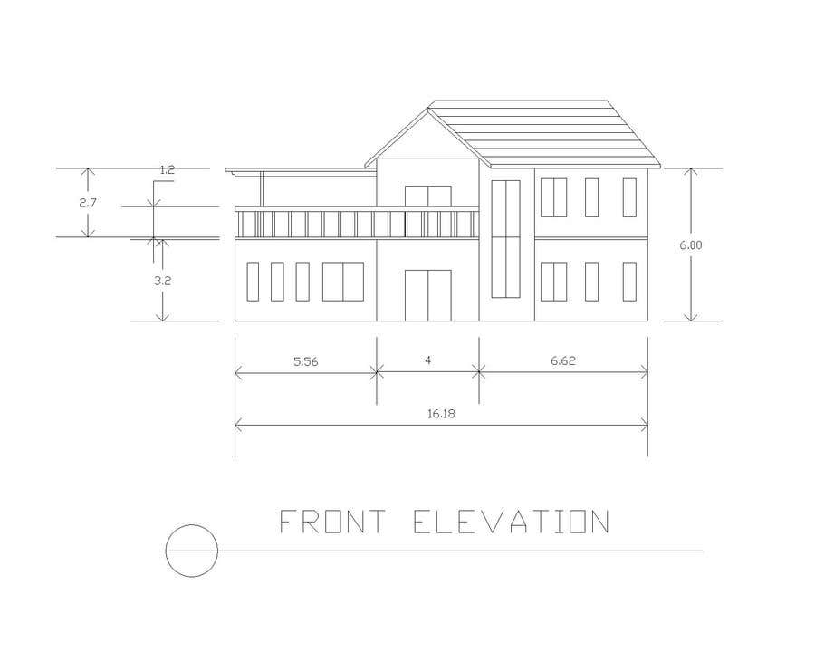 Contest Entry #14 for Draw colonial elevation for a floor plan