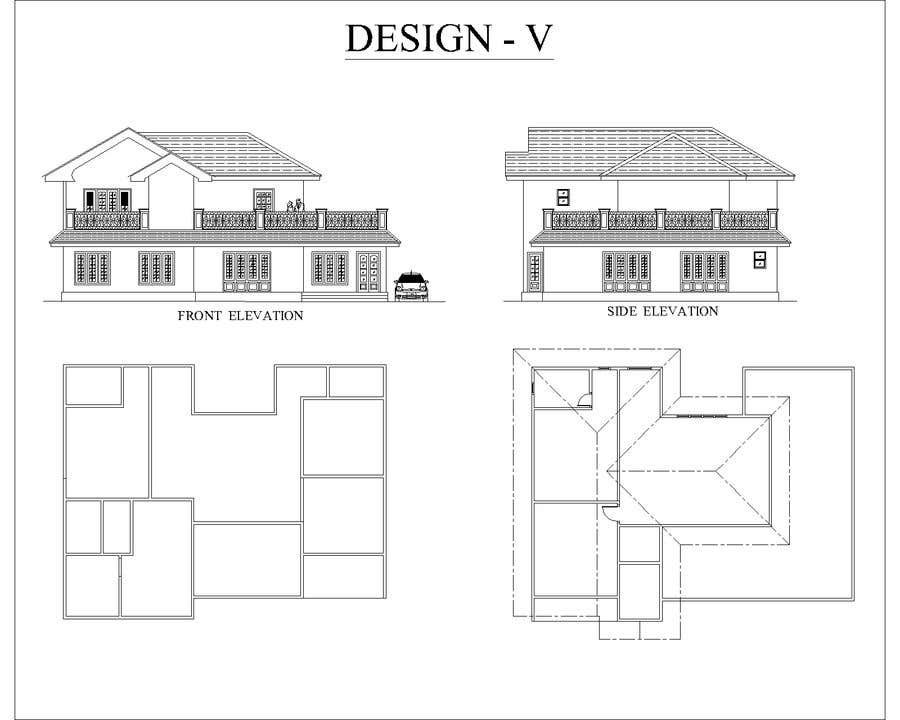 Contest Entry #13 for Draw colonial elevation for a floor plan