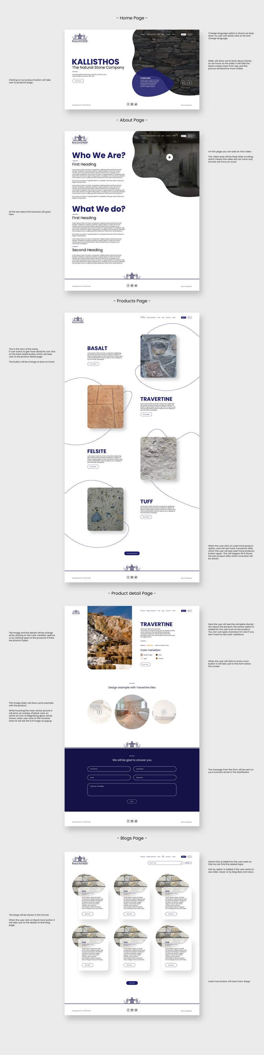 """Intrarea #235 pentru concursul """"Screen Design - Natural Stone Company"""""""
