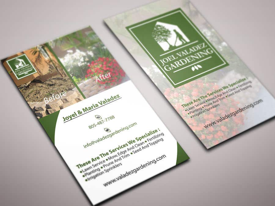 Proposition n°123 du concours Revamp Business Card for Landscaping/Gardening Service Provider
