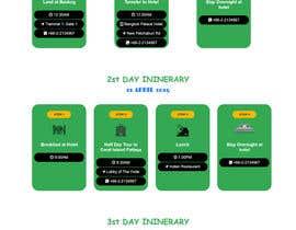 Nro 21 kilpailuun One page multi day package itineary design HTML -100% responsive käyttäjältä atiqur123