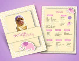 #18 untuk Make a Food Menue for Nureen Birthday oleh LaGogga
