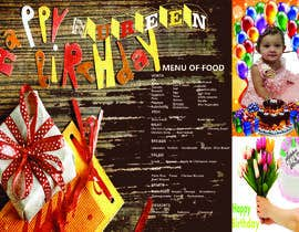 #10 untuk Make a Food Menue for Nureen Birthday oleh aminulhaqueriaz