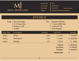 #31 for Create a Branded Excel Invoice for a Jewellery Company af zrliton