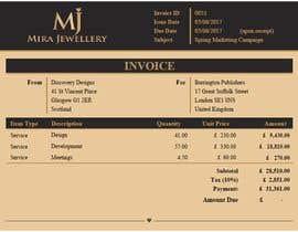 #31 para Create a Branded Excel Invoice for a Jewellery Company por zrliton