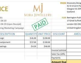 Nro 46 kilpailuun Create a Branded Excel Invoice for a Jewellery Company käyttäjältä shahidulbhatsi3