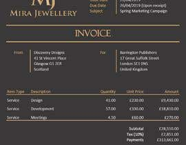 #21 para Create a Branded Excel Invoice for a Jewellery Company por rachelmconnor