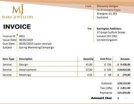 #6 for Create a Branded Excel Invoice for a Jewellery Company af umairabdillah12