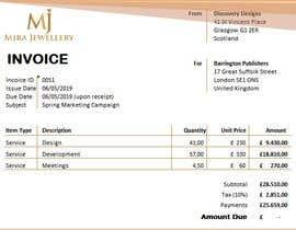 #6 para Create a Branded Excel Invoice for a Jewellery Company por umairabdillah12