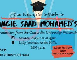 #34 untuk Graduation invitation card oleh nuranisaa
