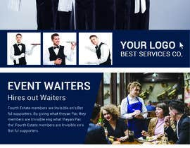#42 cho Design Flyers for My Waiter/Bartender Hire Business bởi imranshikderh