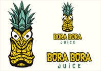 """Graphic Design Intrarea #23 pentru concursul """"Redraw this form of novelty in a beautiful and professional manner with the addition of (Bora Bora juice below the logo)"""""""