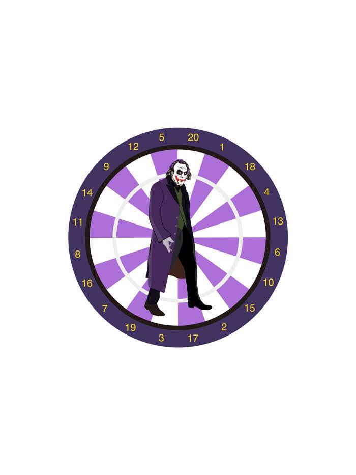 Proposition n°7 du concours Illustrate a Joker Logo with dartboard