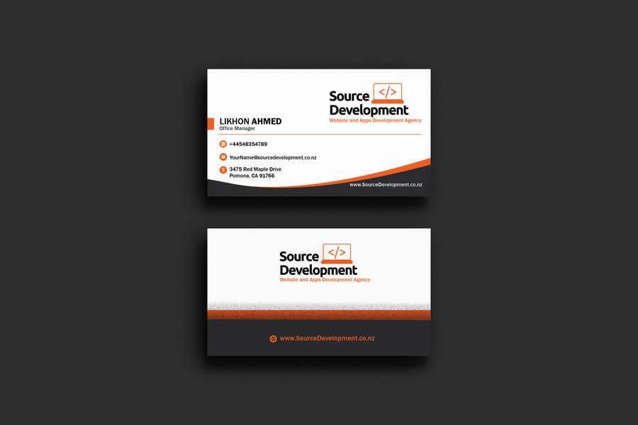 Kilpailutyö #319 kilpailussa Re-Design a Business Card for a Website & App Development Company