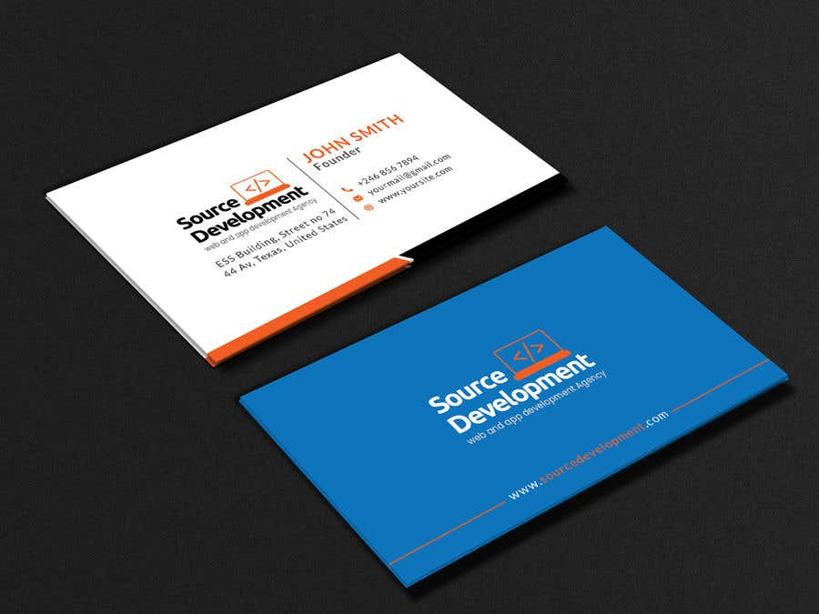 Kilpailutyö #178 kilpailussa Re-Design a Business Card for a Website & App Development Company