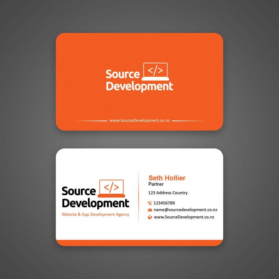 Inscrição nº 103 do Concurso para Re-Design a Business Card for a Website & App Development Company