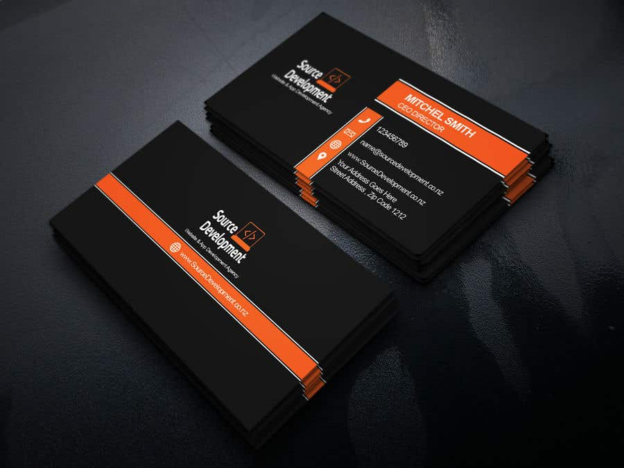 Kilpailutyö #33 kilpailussa Re-Design a Business Card for a Website & App Development Company