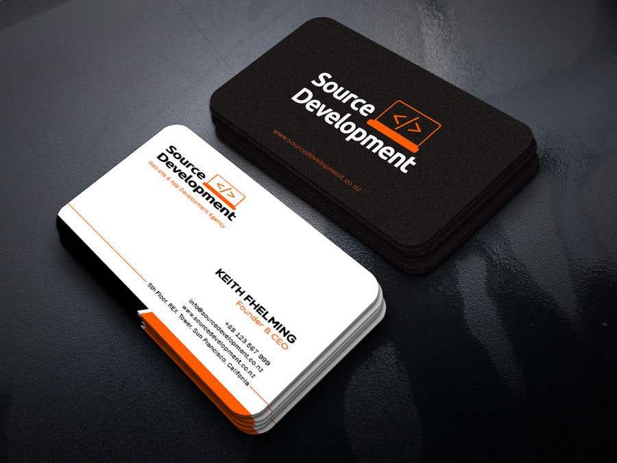 Inscrição nº 370 do Concurso para Re-Design a Business Card for a Website & App Development Company